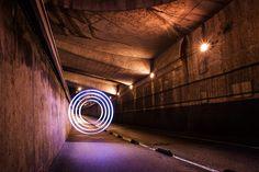 Amazing Light & Shadow Art by Kumi Yamashita Dramatic Photography, Light Painting Photography, Art Photography, Kumi Yamashita, Road Routes, Circle Light, Shadow Art, Behance, French Photographers