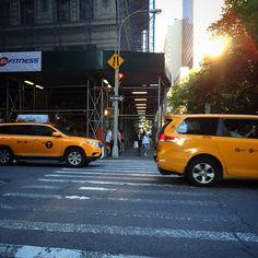 NYC, sunset.