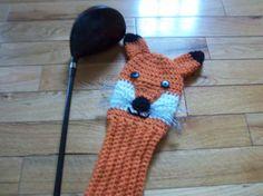 crochet+golf+club+covers+patterns+free | Fox Golf Club Cover Pattern - PDF Pattern