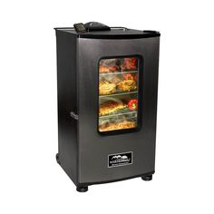 """Masterbuilt - 30"""" Digital Electric Smoker with Smoke Cover - Black/Stainless Steel (Black/Silver)"""