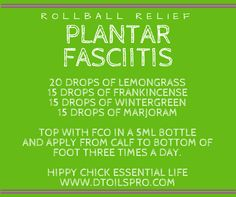 Suffer with Plantar Fasciitis? Check out this recipe and others at www.dtoilspro.com