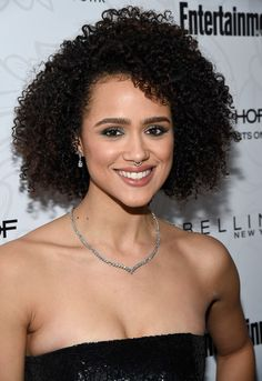 Nathalie Emmanuel Photos Photos - Actress Nathalie Emmanuel attends the Entertainment Weekly Celebration of Screen Actors Guild Award Nominees sponsored by Maybelline New York at Chateau Marmont on January 28, 2017 in Los Angeles, California. - Entertainment Weekly Celebrates the SAG Award Nominees at Chateau MarmontSsponsored by Maybelline New York - Arrivals Nathalie Emmanuel, Kinky Curly Hair, Curly Girl, Curly Hair Styles, Natural Hair Styles, Natural Beauty, Afro Textured Hair, Sag Awards, Beautiful Celebrities