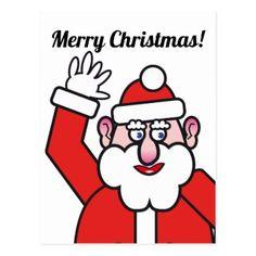 Christmas Santa Claus 2.2 Postcard - merry christmas postcards postal family xmas card holidays diy personalize