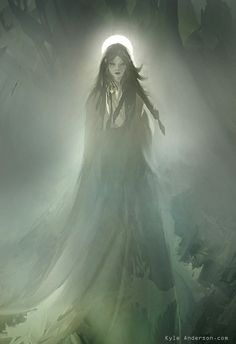 OOoooooo.....I likes. The fog and the light from the moon behind her just give it a really nice ethereal quality.