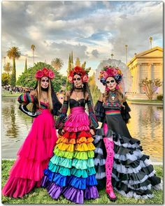 Mexico Day Of The Dead, Halloween Outfits, Princess Zelda, Costumes, Sugar Skulls, Fictional Characters, Holiday, Carnival, Homemade Beauty Tips