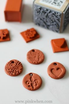 How to make your own clay jewelry diffuser charms with terra cotta baking clay.