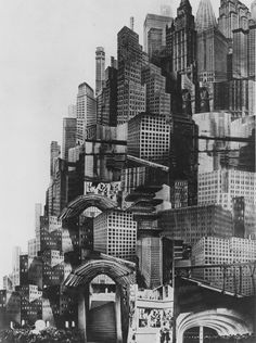 "CIVIC ARCHITECTURE - hive mentality ""Metropolis"" Fritz Lang best example of what I think the pats saw the future as is this movie which in some cases I be leave is a acuray discription Metropolis Fritz Lang, Metropolis 1927, Future City, Photomontage, Silent Film, Retro Futurism, Art Plastique, Concept Art, Movies"