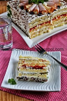 Recipes for small and big kids .: The easiest salty cake bread toast! Cooking Time, Cooking Recipes, Sour Foods, Greek Sweets, Sandwich Cake, Party Finger Foods, Salty Cake, Dips, Greek Recipes