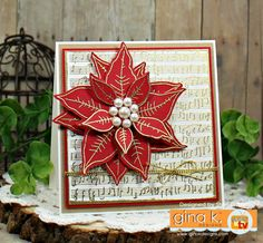 stampTV - Card making, rubber stamping techniques and project videos for papercrafters Poinsettia Cards, Christmas Poinsettia, Christmas Tag, Christmas Crafts, Christmas Ideas, Rubber Stamping Techniques, Christmas Verses, Stamp Tv, Winter Karten