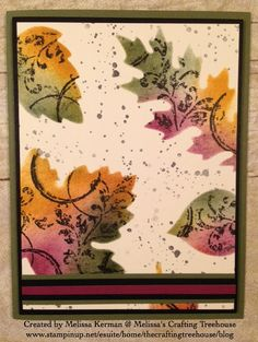 DIY, handmade card using the Leaflets Framelits, plus the Timeless Textures and Gorgeous Grunge Stamp Sets. Project created by Melissa Kerman, Stampin' Up! demonstrator for the NC Demonstrators Blog Hop.