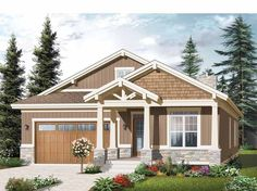 Eplans New American House Plan - Three Bedroom New American Home - 1779 Square Feet and 3 Bedrooms from Eplans - House Plan Code HWEPL75561
