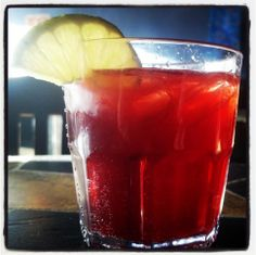 "From one of our fans: ""Cheershine"" – made with Apple Pie Moonshine, Cheerwine and lime!"