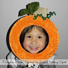 Katie's Nesting Spot: Paper Plate Pumpkin Mask