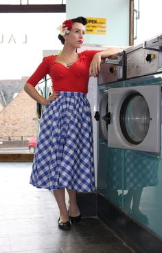 Whimsical and sweet, Circle skirts in ginghams bring out the country girl in you.....from Lady K Loves