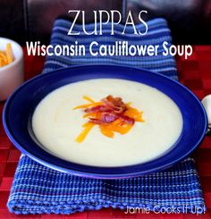 Zuppas Wisconsin Cauliflower Soup from Jamie Cooks It Up!