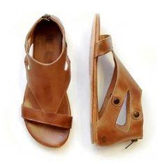 412e586e3 Plain Flat Ankle Strap Peep Toe Casual Gladiator Sandals