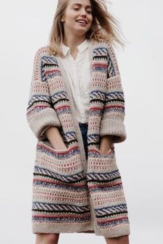 Free Knitting Pattern for a Color Work Cardigan for Women. Free Knitting Pattern for a Color Work Cardigan for Women. , Free Knitting Pattern for a Women& Color Work Cardigan. Gilet Crochet, Crochet Cardigan, Crochet Jacket, Crochet Baby, Cardigan Pattern, Jacket Pattern, Knitting Patterns Free, Free Knitting, Free Pattern