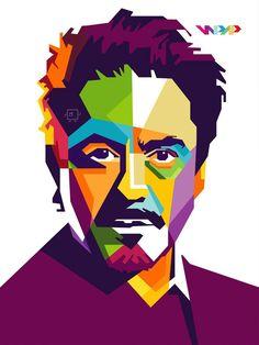 Pop Art Portraits, Portrait Art, Pop Art Face, Polygon Art, Joker Art, Music Artwork, Marvel, Vector Portrait, Arte Pop