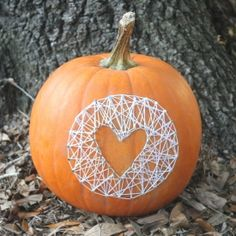 Give your pumpkins a unique and modern look with string art!