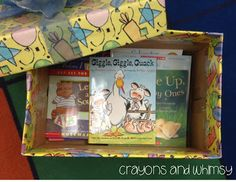 birthday box: as a gift for student birthdays, they get to choose a book from the box,