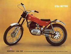 Montesa Cota 123 Vintage Bikes, Vintage Motorcycles, Classic Bikes, Classic Motorcycle, Motos Trial, Trial Bike, Push Bikes, Motorcycle Posters, Dirtbikes