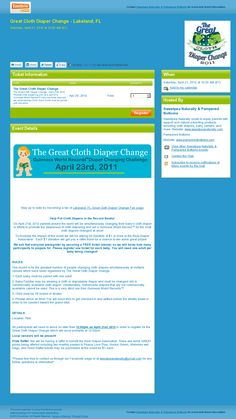 Lakeland, FL  #GCDC2012  Website 'http://greatclothdiaperchangelakeland.eventbrite.com/' snapped on Snapito!