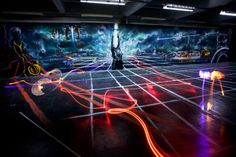 3D space & mural created for Disney's 'Tron Legacy'