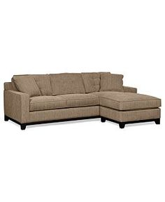 Elliot Fabric Microfiber 2-Piece Chaise Sectional Sofa - Sectional Sofas - Furniture - Macy's
