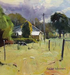 Colley Whisson     Dayboro Morning, Aust 6''x6'' Oil 2009