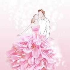 Fashion Illustrator Grace Ciao Turns Flower Petals Into Gorgeous Dresses Grace Ciao, Arte Fashion, Floral Fashion, Flower Petals, Flower Art, Flowers, Flower Girls, Art Floral, Unique Drawings