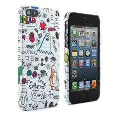 Proporta 10379 Hard Shell Cover for iPhone 5 -Scribble Pad - 1 Pack - Retail Packaging - White:Amazon:Cell Phones & Accessories
