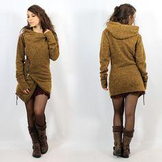 "Zipper knit cardigan Witch ""Akriti"" •• Mori Boho Roots Fairy Look ❃"
