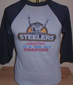 4c1733b48 Vintage 1980s Pittsburgh Steelers Super Bowl t shirt Medium raglan by  vintagerhino247 on Etsy Super Bowl