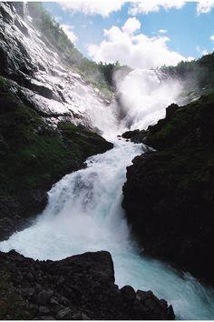 Flam Myrdal Railway Flamsbana, Kjosfossen Waterfall