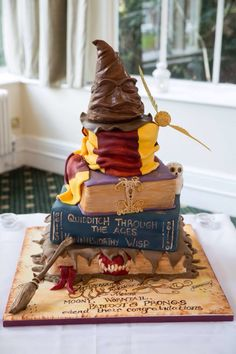 My amazing Harry Potter wedding cake! Made by the fantastic Cake Lady of Harrogate