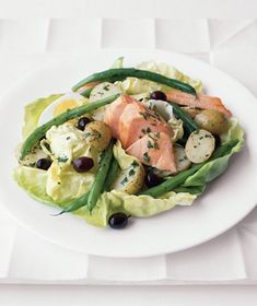 Salmon Nicoise Salad recipe from realsimple.com #myplate #vegetables #protein