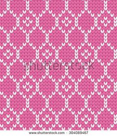 knitted geometric seamless pattern