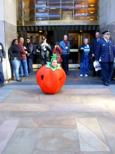https://flic.kr/p/3NdeRM | Enter Tomato | Sarah Bunting of Tomato Nation promised her readers that she would dance in a tomato costume if they donated $40,000 to www.donorschoose.org in the month of October.  $101,000 later, here we are...