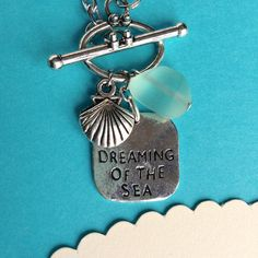 $17.00.  SEA DREAMS NECKLACE.  Love the bit of sea glass.  So sweet.