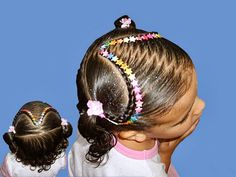 TINKERBELL FRASES POSITIVAS: PEINADOS PARA NIÑAS Gym Hairstyles, Little Girl Hairstyles, Braided Hairstyles, Hairdos, Cut My Hair, Her Hair, Curly Hair Styles, Natural Hair Styles, Long Hair Tips
