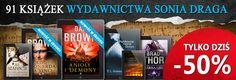 Świetne promocja wydawnictwa Sonia Draga: http://upolujebooka.pl/wydawnictwo,731,sonia_draga.html  Można dużo taniej kupić ksiązki Anioły i demony: http://upolujebooka.pl/oferta,27745,anioly_i_demony.html oraz Kod Leonarda da Vinci http://upolujebooka.pl/oferta,27744,kod_leonarda_da_vinci.html
