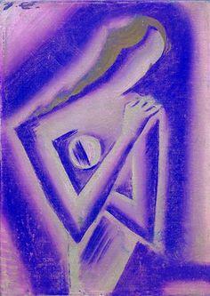 Josef Čapek (Czech 1887–1945) [Cubism] Blcha, 1916. Galerie výtvarného umění Litoměřice. Woman Painting, Painting & Drawing, Frantisek Kupka, City Journal, Paint Photography, Georges Braque, Writers And Poets, True Art, Purple Rain