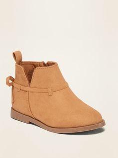 Faux-Suede Bow-Strap Booties for Toddler Girls | Old Navy Toddler Girl Shoes, Toddler Girl Outfits, Toddler Dress, Girls Shoes, Toddler Girls, Little Girl Outfits, Shop Old Navy, Ankle Boots, Booty