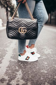 Ashley Zeal from Two Peas in a Prada shares how to clean Gucci sneakers. She 6e0ab7d883f