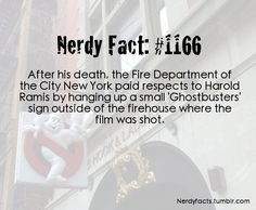 (Source.) (EDIT: The Ghostbusters sign hangs inside the firehouse, as the FDNYonly places things outside the firehouse when a firefighter h...