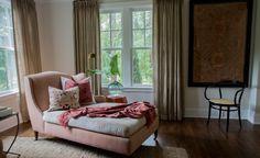 Smooth pink sofa