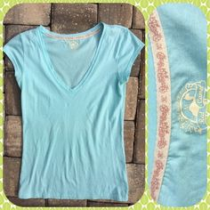 AQUA CAP SLEEVE T Sweet Summer shirt wear alone or layer, light 100% cotton,  Favorite Fit. Red Camel Tops
