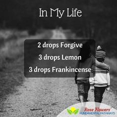 One of my favorite Beatles songs is now a diffuser blend! Although Forgive is one oil that doesn't always appease me or my emotions, it is wonderful in blends!