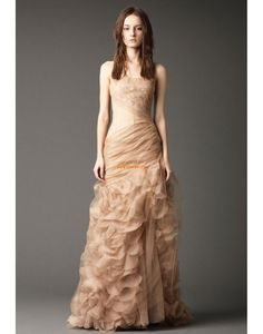Fourreau Sans bretelles Gradins Robes de mariée 2014