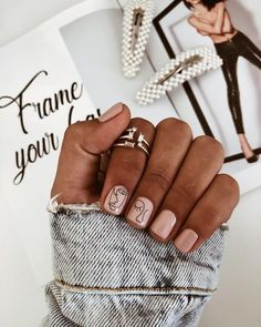 150 simple summer square acrylic nails designs in 40 my.me - 150 simple summer square acrylic nails designs in 40 my. Nagellack Design, Nagellack Trends, Square Acrylic Nails, Cute Acrylic Nails, Minimalist Nails, Easy Nails, Simple Nails, Simple Nail Design, Picasso Nails